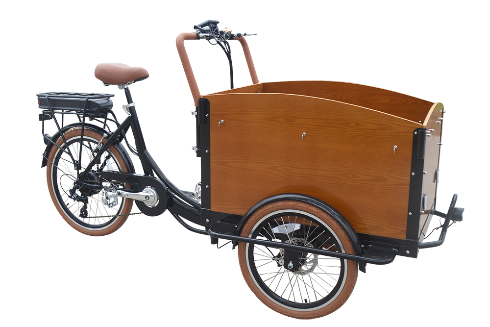Classic Electric Dutch Cargo Tricycle